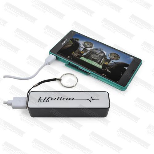 Lifeline Lifeline External Powerbank Emergency Charger 2600 mAh Samsung BLACK