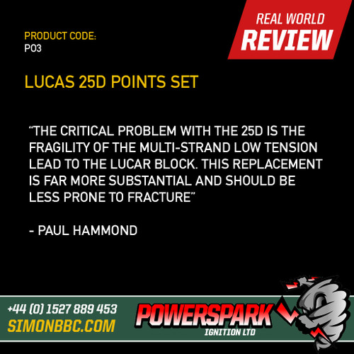 Lucas 25D Distributor Points Set Replacement