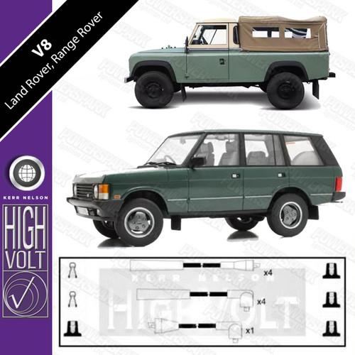High Volt Land Rover 88 / 109 3.5 V8 and Range Rover Classic 4.3 V8 OEF933 High Volt HT Leads