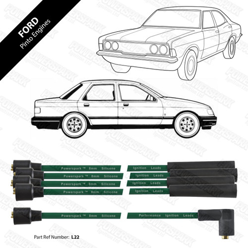 Powerspark Ford Pinto OHC HT Leads 8mm Double Silicone