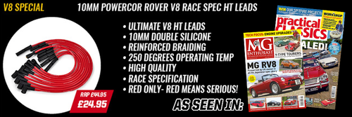 Rover V8 Powercor 10mm Performance Double Silicone Race Spec HT Leads