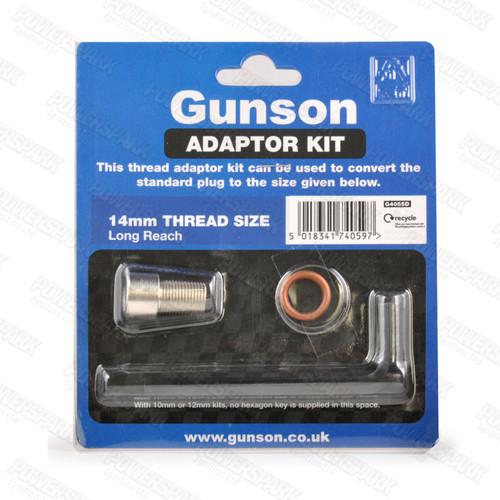 Gunson Gunson Hi Gauge and Colortune Plug Adaptor Kit 14mm Thread Long Reach G4055D