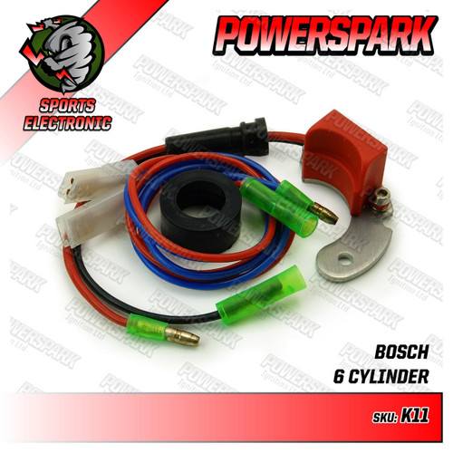 Powerspark Electronic Ignition for Bosch 6 Cyl LH 1PC Distributor K11