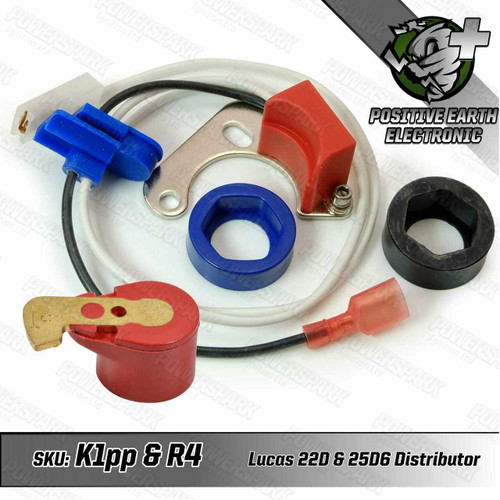 Powerspark Powerspark Electronic Ignition Kit for Lucas 22D6 and 25D6 Distributor Positive Earth K1PP and R4