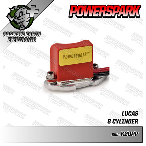 Powerspark Powerspark Electronic Ignition Kit for Lucas 20D8 Distributor Positive Earth K20pp