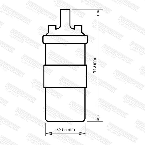 Powerspark Powerspark 12v Ballast Ignition Coil Bosch 0221119030 equiv