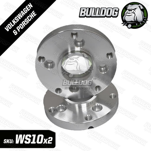 Bulldog Set of 2 Bulldog Wheel Adapters to fit Porsche 5 x 130 PCD Wheels to Volkswagen 4 x 100 PCD Hub 20mm Thickness
