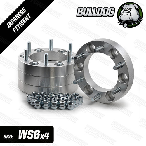 Set of 4 Bulldog 30mm Wheel Spacers To Fit 6 Stud Toyota, Mitsubishi, Isuzu, Ford, Vauxhall 4x4 Vehicles