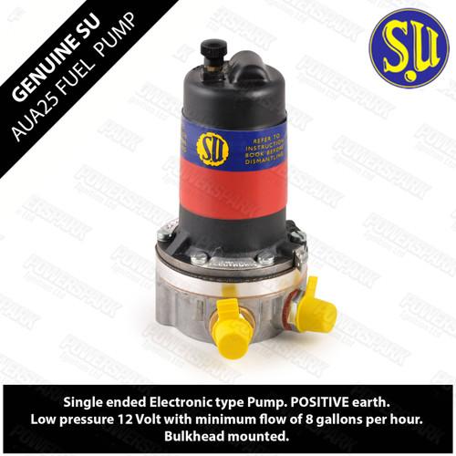 Genuine SU AUA25 Electronic Fuel Pump Positive Earth 12 volt 1.5 psi