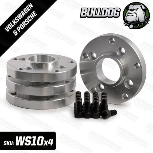 Bulldog Set of 4 Bulldog Wheel Adapters To Fit Porsche 5 x 130 PCD Wheels to Volkswagen 4 x 100 PCD Hub