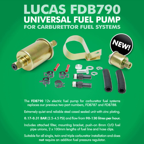SU Genuine Lucas FDB790 Fuel Pump FDB787 and FDB788