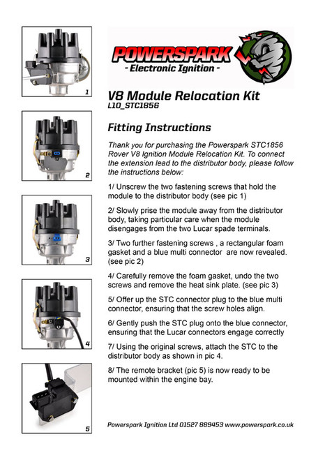 Powerspark Ignition V8 Module Relocation Kit including Lucas Module - FITTING