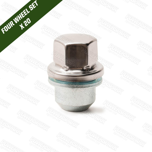 Nut 1 - Wheel Nut with S/S Caps for WS1 Spacers and WS5 Adapters RRD500560 - Set of 20