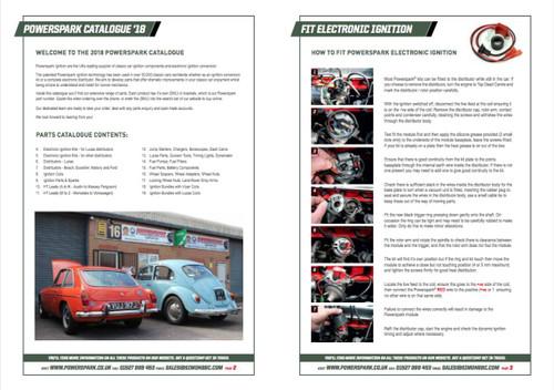 Powerspark Parts Catalogue Printed