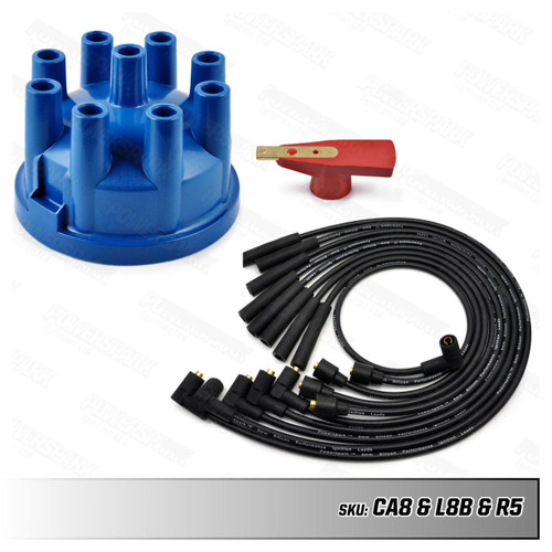Lucas Lucas 35D V8 Distributor Upgrade Kit with Blue HT Leads