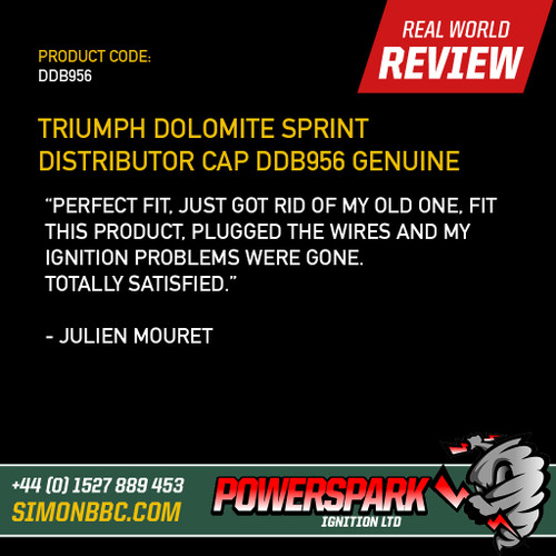 Triumph Dolomite Sprint Distributor Cap DDB956 Genuine Lucas