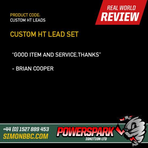 Powerspark Custom HT Lead Lead Set - 7mm Black with Acorn Terminals