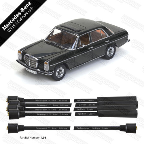 Powerspark Mercedes-Benz W115 HT Leads 8mm Double Silicone