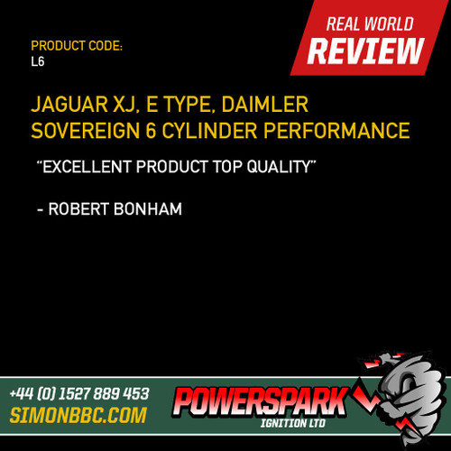 Powerspark Jaguar E Type, XJ 6 Cylinder HT Leads 8mm Double Silicone