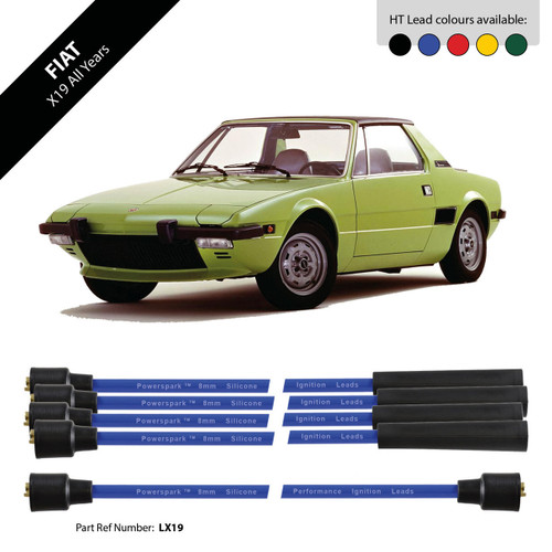 Powerspark Fiat X-19 HT Leads 8mm Double Silicone