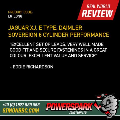 Powerspark Jaguar XJ, E Type, 6 Cylinder HT Leads 8mm LONG