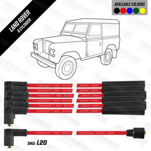Powerspark Land Rover Series 3 2600cc HT Leads 8mm Double Silicone
