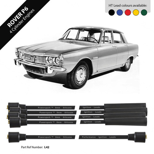 Powerspark Rover P6 HT Leads 8mm Double Silicone