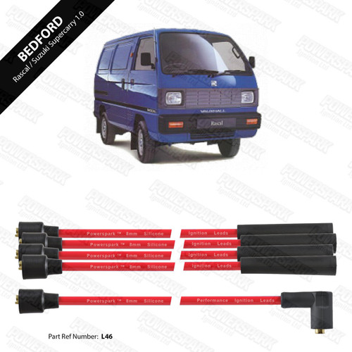 Powerspark Bedford Rascal and Suzuki Super Carry 1.0 HT Leads 8mm Double Silicone