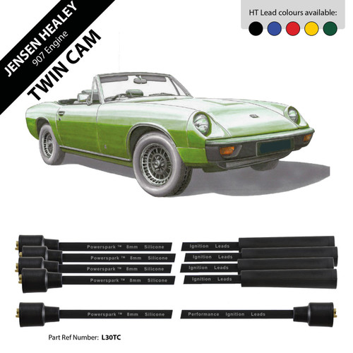 Powerspark Jensen Healey 912 Twin Cam Engine HT Leads 8mm Double Silicone