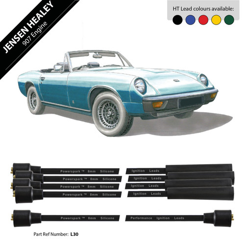 Powerspark Jensen Healey 907 Engine HT Leads 8mm Double Silicone