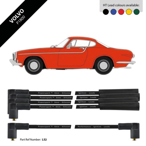 Powerspark Volvo P1800 HT Leads 8mm Double Silicone