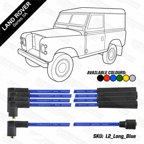 Powerspark Land Rover Series 2a 1961-1971 4 Cylinder Engines HT Leads 8mm Double Silicone