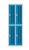 Perforated Door Lockers 2 Compartment Nest of 2