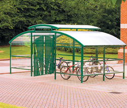 Cycle Compound Shelter with canopy