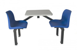Canteen furniture 2 seat single entry