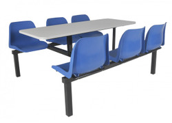 Canteen furniture 6 seater double entry