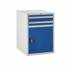 600 Euroslide 2 Drawers & 1 Door Cabinet