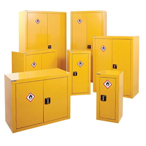 yellow coshh cabinets