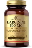 Solgar L-Arginine 500 mg, 100 Vegetable Capsules, bottle