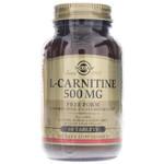 Solgar L-Carnitine 500 mg, 60 Tablets, bottle