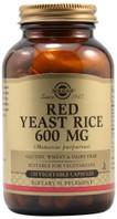 Solgar Red Yeast Rice 600 mg, 120 Vegetable Capsules, bottle