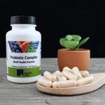 Riordan Clinic Probiotic Complex Shelf Stable Formula, 30 Capsules. Tan Capsules