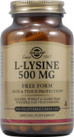 Solgar L-Lysine 500 mg, 100 Vegetable Capsules, bottle