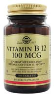 Solgar Vitamin B12 100 mcg, 100 Tablets, bottle