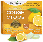 Herbion Naturals Cough Drop, Honey Lemon Flavor, 18 Drops, box