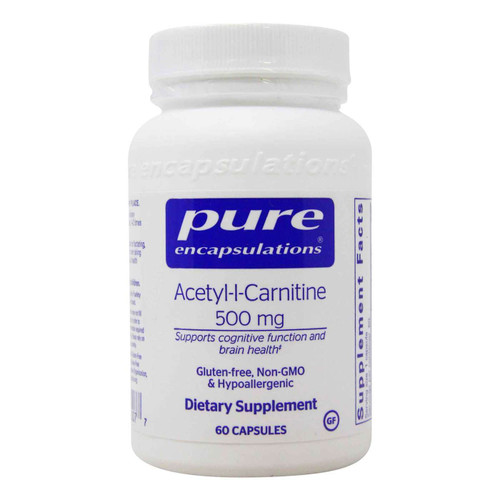 Pure Encapsulations Acetyl-L-Carnitine, 500 mg, 60 Capsules, bottle