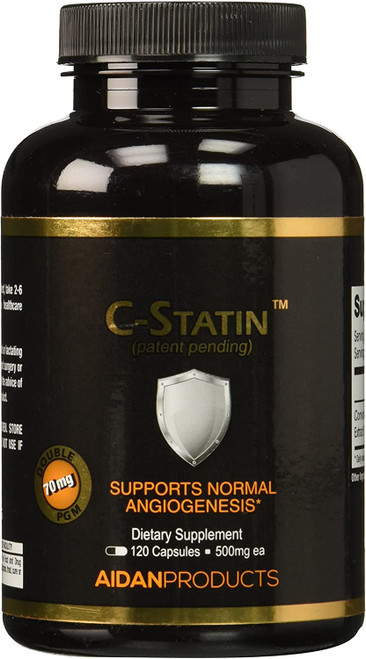 Aidan Products C-Statin, 120 Capsules, 500 mg each, bottle