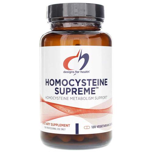 Designs for Health Homocysteine Supreme, Metabolism Support, 120 Vegetarian Capsules, bottle
