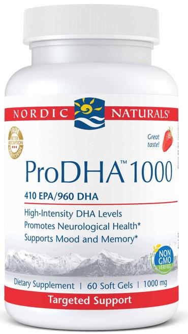 Nordic Naturals ProDHA 1000, 60 Soft Gels, bottle