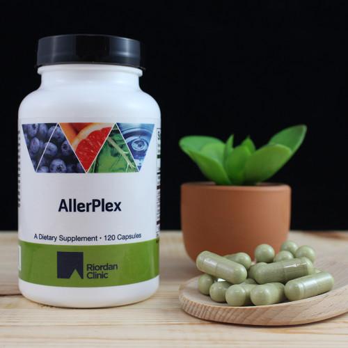 Riordan Clinic Allerplex, 120 Capsules. Pale Green Capsules